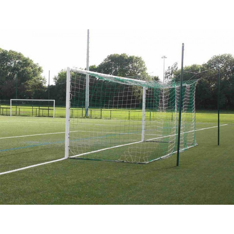Buts de football à 11 à sceller en aluminium  (la paire)