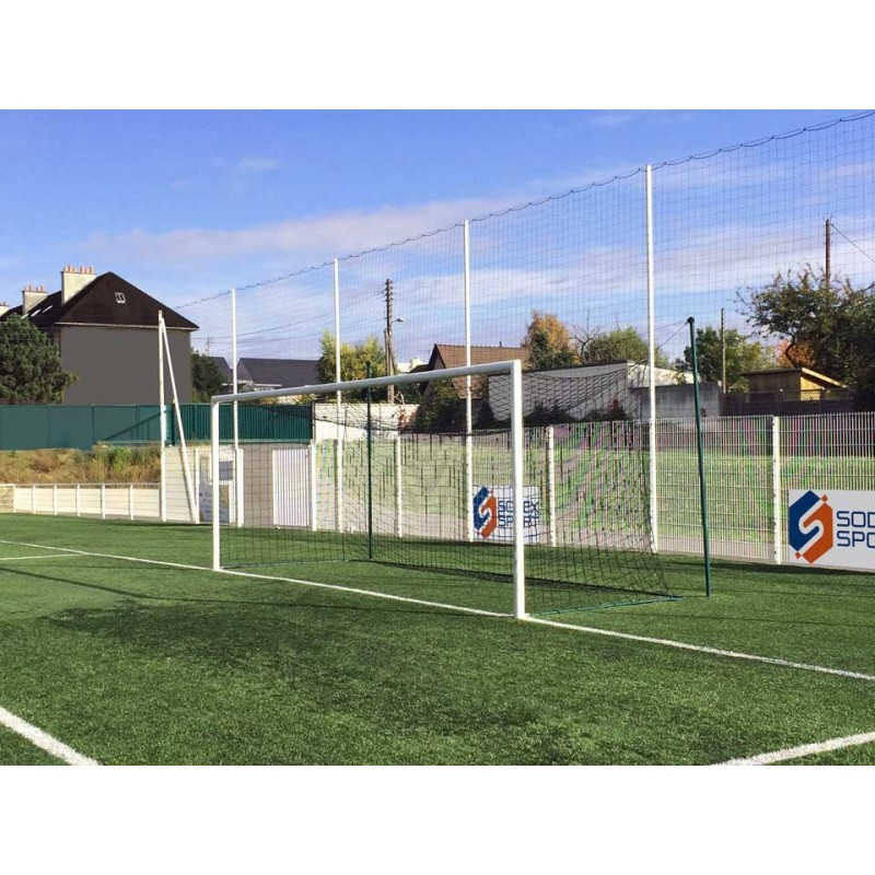 Buts de football à 11 à sceller en aluminium à glissière (la paire)