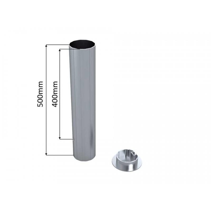 Lot de 2 fourreaux aluminium pour 90mm
