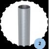 Lot de 2 fourreaux en aluminium avec couvercle pour poteaux ronds 90mm