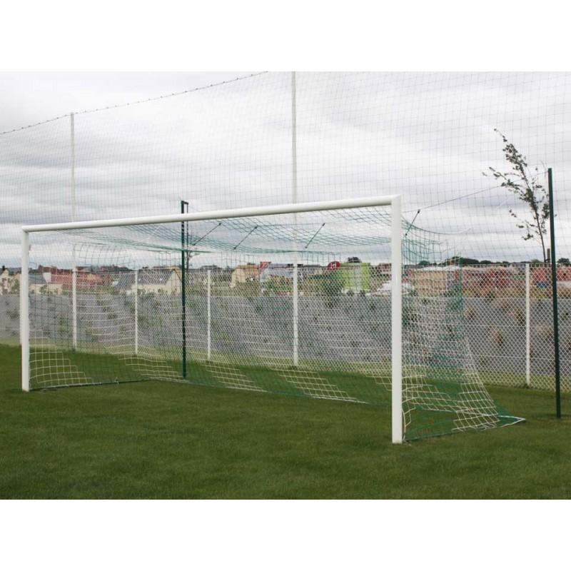 Buts de football à 11 à sceller en aluminium ovoïde à glissière (la paire)