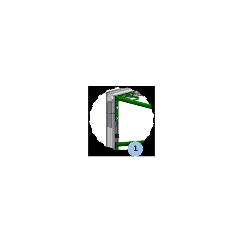 Buts de football à 11 transportables en aluminium 101,6mm avec oreilles (la paire)