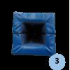 Mousse de protection pour poteau de basket hauteur 2m, 80 à 115mm dimension extérieur 200x200mm (la paire)
