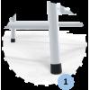 Podium pour arbitre de volleyball en acier galvanisé plastifié blanc