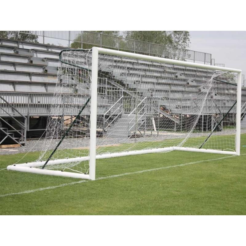 But de football à 11 transportable en aluminium 101,6mm avec oreilles (l'unité)