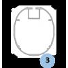 Buts de football à 11 transportables en aluminium ovoïde avec oreilles (la paire)