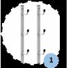 Râtelier mural pour 4 poteaux (la paire)