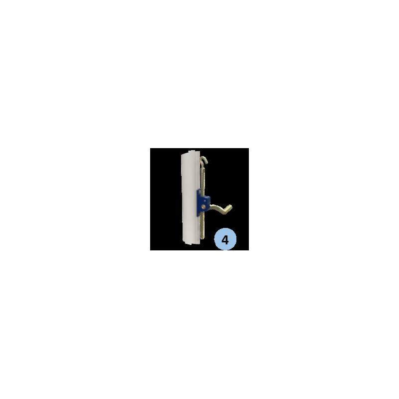 Poteaux de volley-ball Compétition en acier galvanisé mobiles 90 mm, Tension par treuil, Classe B (la paire)