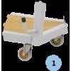 Râtelier mobile pour 4 paires de poteaux