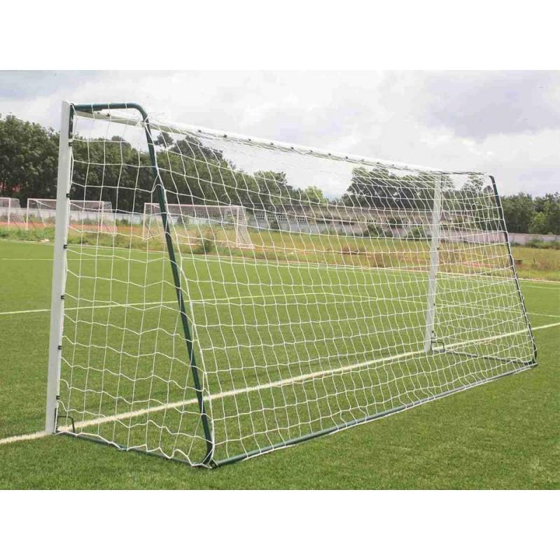 Filets de football à 8 CPE 2mm maille double 145mm forme trapézoïdale (la paire)