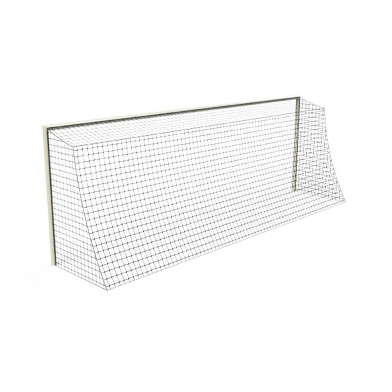Filets de football à 8 buts rabattables Premium TPE 3mm maille simple 145mm forme trapézoïdale (la paire)