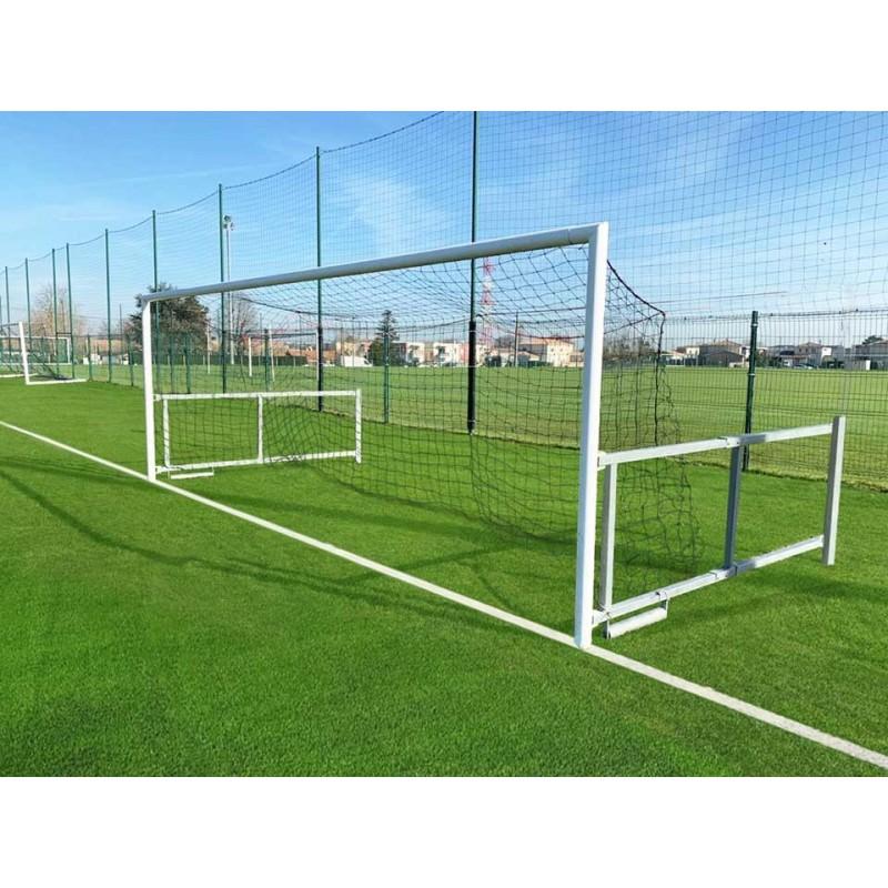 Filets de football à 8 buts rabattables TPE 3mm maille simple 145mm forme triangulaire (la paire)
