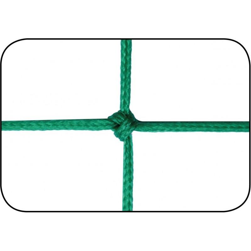 Filets de football à 8 TPE 3mm maille simple 120mm forme trapézoïdale (la paire)