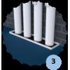 Râtelier vertical, fixation murale pour 4 poteaux (l'unité)
