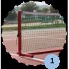 Poteaux de mini tennis 4m en aluminium (sans filet)