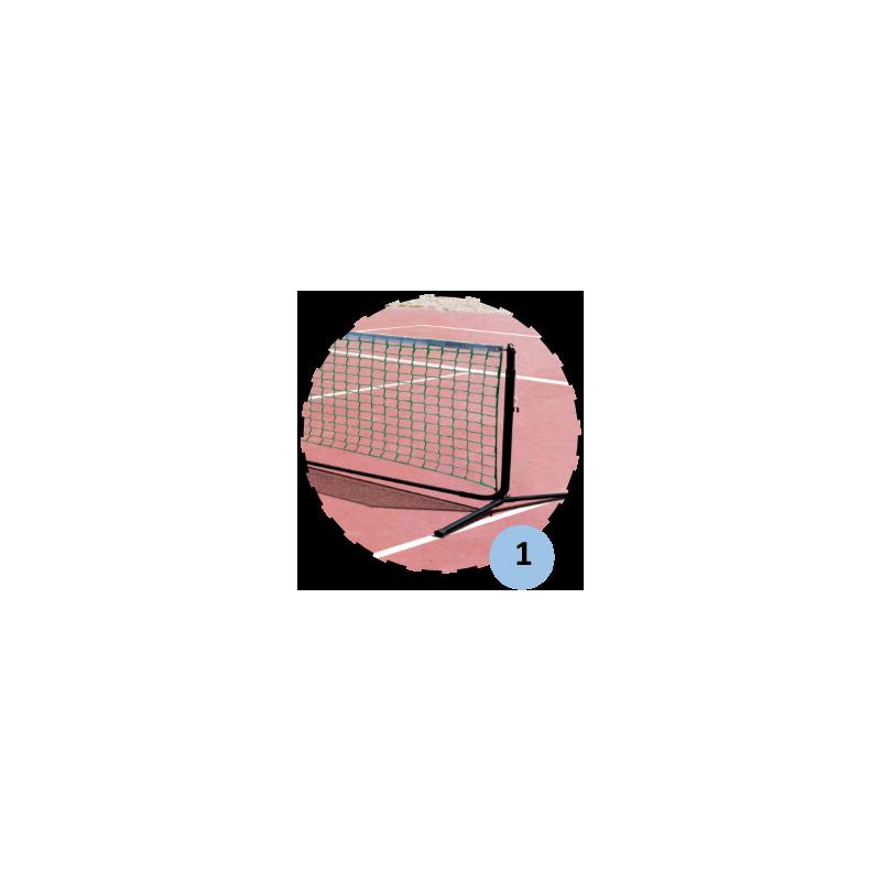 Poteaux de mini tennis 3m en acier (filet inclus)