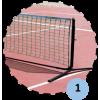 Poteaux de mini tennis 4m en acier (filet inclus)