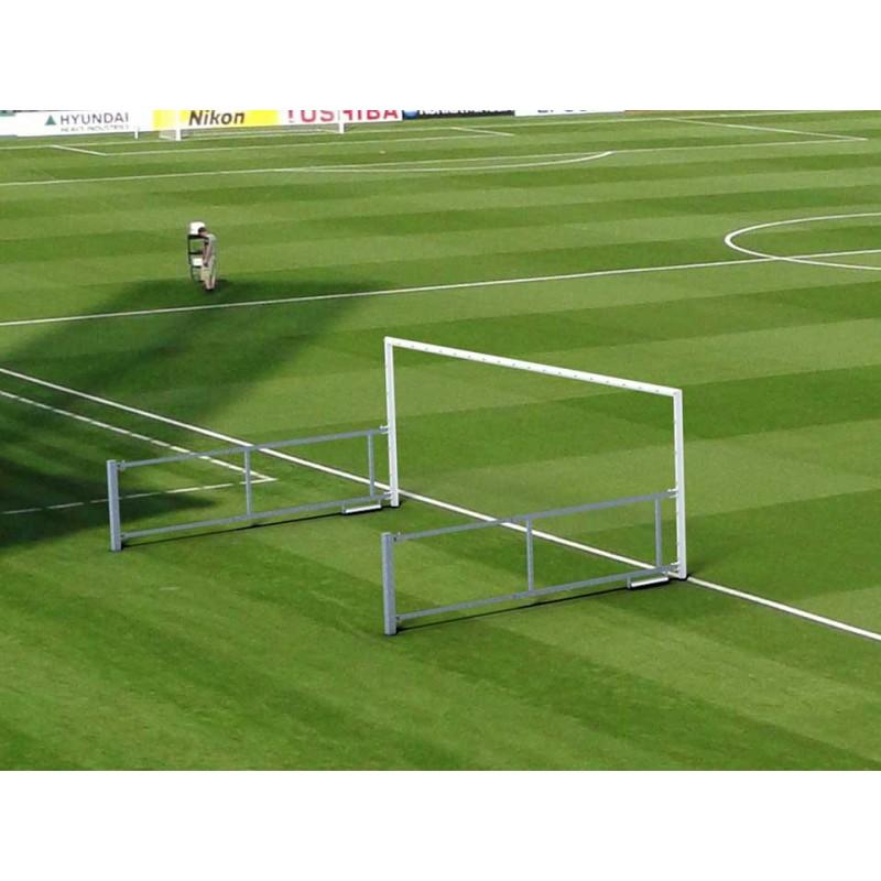 Buts standard de football à 8 rabattables en acier galvanisé (la paire)
