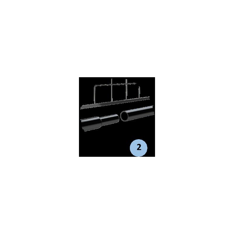 Poteaux de mini tennis 6m en acier (filet inclus)