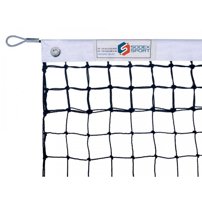 Filet de tennis 2mm, 6 mailles doubles (avec régulateur)