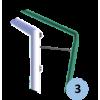 Barres de relevage filet en acier galvanisé pour buts à 8 et 11 (la paire)