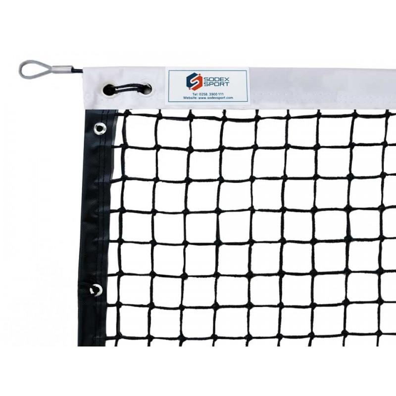 Filet de tennis 3mm maille simple, bandes sur le pourtour (avec régulateur)