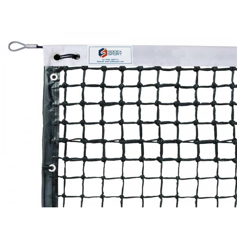 Filet de tennis 3mm 6 mailles doubles, bandes sur le pourtour (avec régulateur)