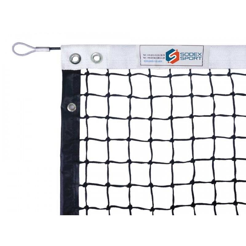 Filet de tennis 4mm maille simple, bandes sur le pourtour (avec régulateur)