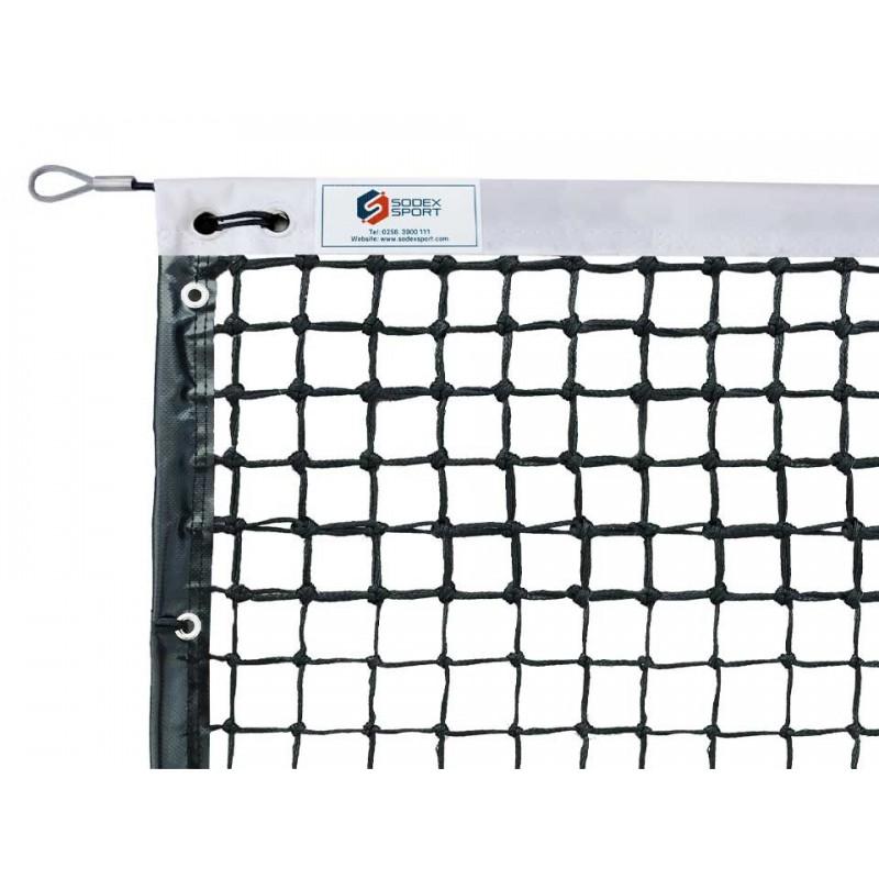 Filet de tennis Haute compétition 4mm maille double, bandes sur le pourtour, barres de cadrage (avec régulateur)