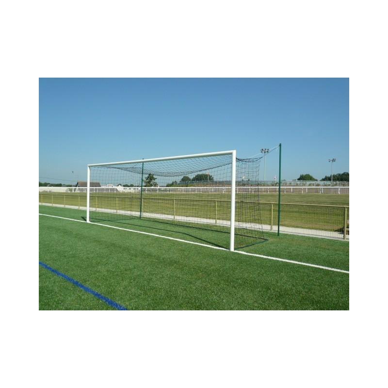 Filets de football à 11 TPE 4mm maille simple 145mm forme européenne (la paire)