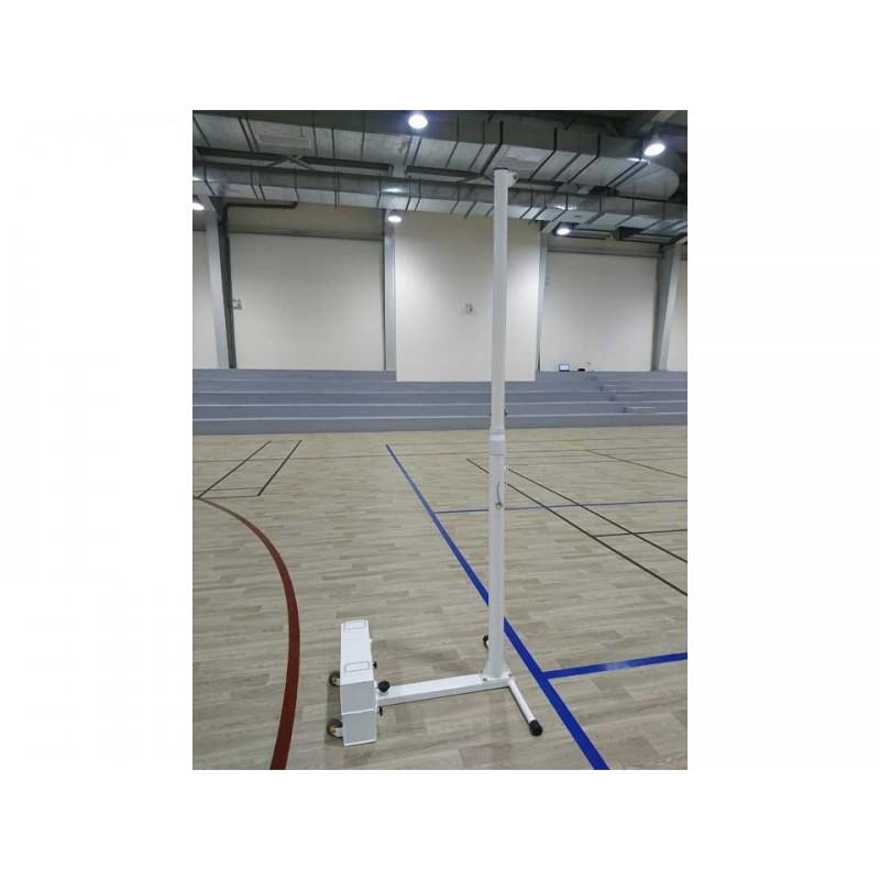 Poteaux de volley-ball entraînement en acier galvanisé mobiles, Tension manuel par cabestan, Classe C (la paire)
