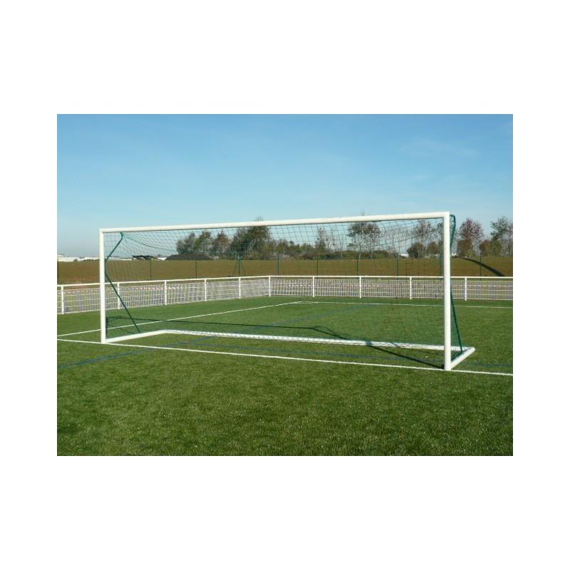 Filets de football à 11 pour buts transportables TPE 3mm maille simple forme trapézoïdale (la paire)