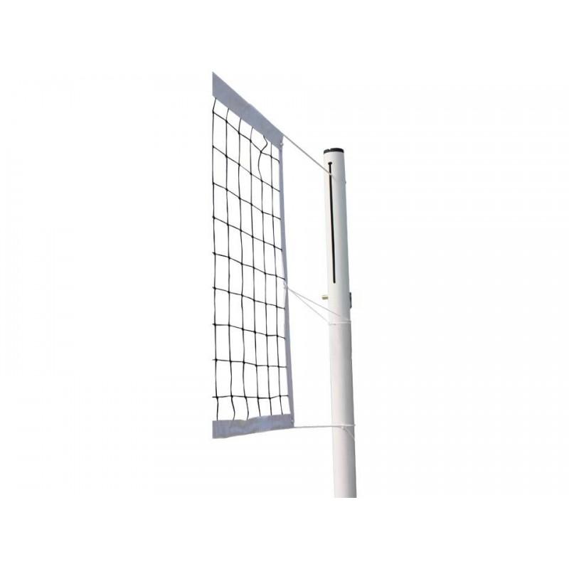 Poteaux de volley-ball Compétition à sceller en aluminium 90mm Tension par treuil, Classe B (la paire)