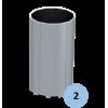 Lot de 2 fourreaux aluminium pour poteaux ronds 90mm