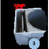 Lot de 2 fourreaux aluminium avec couvercle encastré pour poteaux ronds 90mm