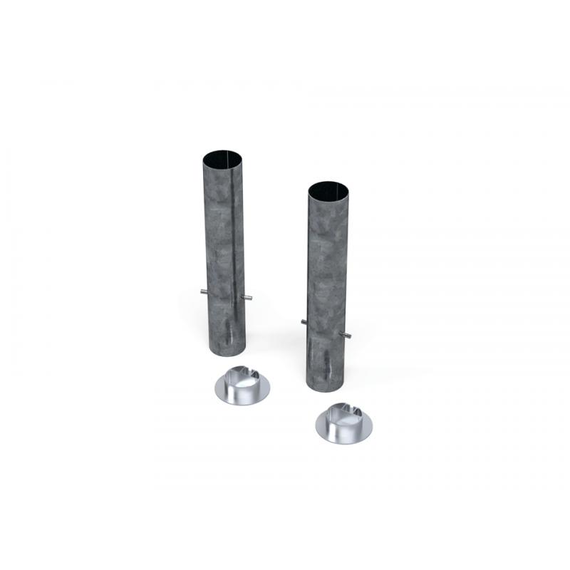 Lot de 4 Fourreaux + couvercles en aluminium 90mm