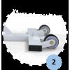 Poteaux mobiles d'entraînement en acier galvanisé 90mm, Tension par treuil, Classe C (la paire)