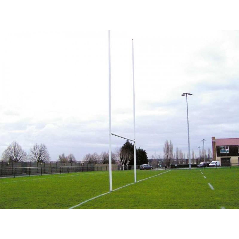 Poteaux de rugby à sceller hauteur 8m en aluminium sans fourreaux (la paire)