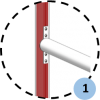 Poteaux de rugby à sceller hauteur 11m en aluminium sans fourreaux (la paire)