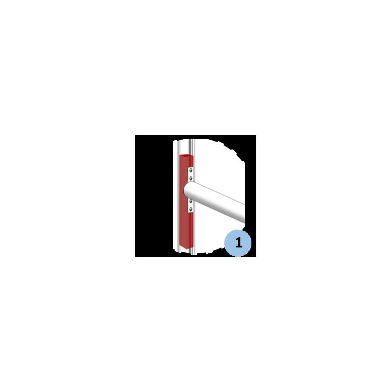 Poteaux de rugby sur charnière hauteur 8m en aluminium sans fourreaux (la paire)