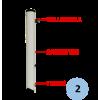 Poteaux de volley-ball entraînement en aluminium à sceller 90mm, Tension par cabestan, Classe C (la paire)