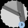 Abris de touche haut 2m, long 1,5 à 7,5m. Protections AR en polycarbonate et LAT en véralyte