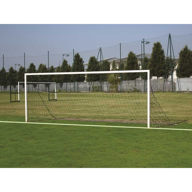 Buts de football à 8 à sceller en acier galvanisé Ø80mm (la paire)