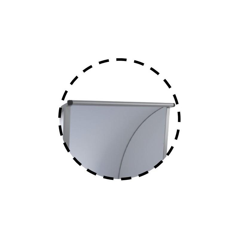 Abris de touche haut 2m, long 1,5 à 7,5m. Protections AR et LAT en Alu/PVC/Alu