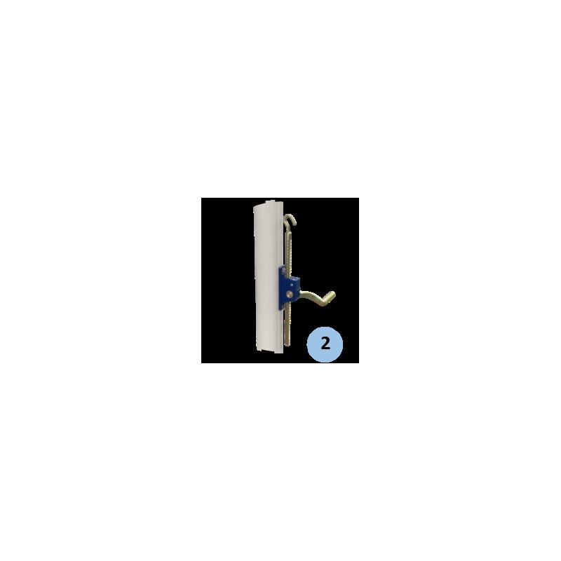 Poteaux de volley-ball entraînement en acier galvanisé à sceller 90mm, Tension par treuil, Classe C (la paire)