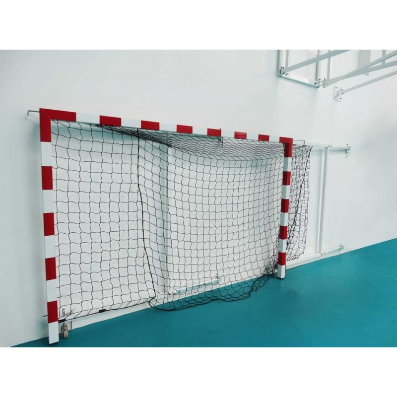 Buts de handball rabattables non monobloc avec prondeur arrière réglable 1m à 1m50 (la paire)