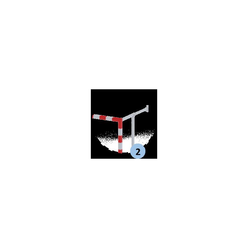 Buts de handball rabattables non monobloc avec profondeur réglable 1m50 à 2m10 (la paire)
