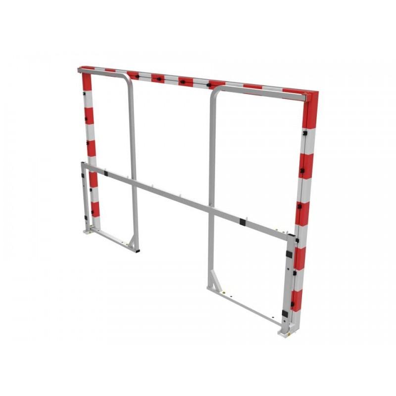 Buts de handball repliables de compétition avec arceaux en aluminium (la paire)
