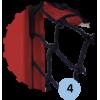 Buts de handball Premium repliables de compétition avec arceaux et glissière pour fixation du filet, en aluminium (la paire)