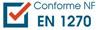Conforme : NF EN 1270